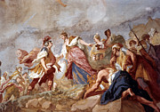 18th Century Painting Framed Prints - Amigoni: Dido And Aeneas Framed Print by Granger