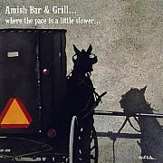 Lounge Posters - Amish Bar and Grill... Poster by Will Bullas