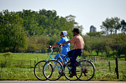 Amish Family Photos - Amish Bike Ride by Jeffrey Platt
