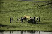 Amish Photos - Amish Buggies Anchor A Volleyball Net by Ira Block