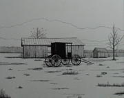 Amish Buggy Paintings - Amish Buggy by Dale Lewis