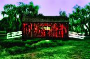 Amish Digital Art Prints - Amish Country Covered Bridge Print by Bill Cannon