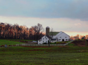 Silo Prints - Amish Farm at Dusk Print by Gordon Beck