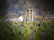 Amish Farm Posters - Amish Grave Yard Poster by Kathy Jennings