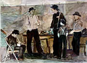 Talking Painting Prints - Amish Market Print by Ethel Vrana