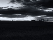 Amish Farms Posters - Amish Sunrise Black and White Poster by Joshua House