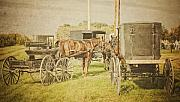 Amish Prints - Amish wagons Print by Al  Mueller