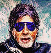 Superstar Framed Prints - Amitabh Bachchan - God of Bollywood Framed Print by Piety Dsilva