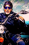 Indian Artist Prints - Amitabh Bachchan - Living Legend Print by Piety DSILVA