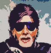 Superstar Framed Prints - Amitabh Bachchan The Superstar Framed Print by Piety Dsilva