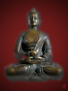 Amitabha Photo Framed Prints - Amitabha Framed Print by Luc Novovitch