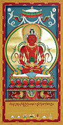 Buddhist Paintings - Amitayus by Sergey Noskov