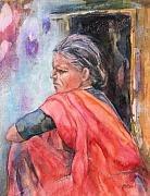 Indian Art - Amma by Kate Bedell