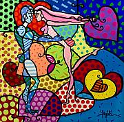 Couple Mixed Media - Amor a Color by Yazmin Arzola