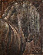 Horse Drawings Framed Prints - Amor Framed Print by Paula Collewijn -  The Art of Horses