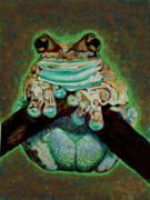 Frog Mixed Media Originals - Amphibian by Johnee Fullerton