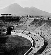 Roman Sport Framed Prints - Amphitheater in Pompeii - Italy - c 1926 Framed Print by International  Images