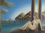 Surrealistic Paintings - Amphitrite by John Haanstra