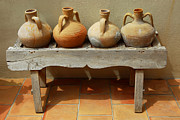 Patio Prints - Amphoras  Print by Elena Elisseeva