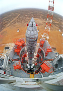 Ams 23 Communications Satellite Launch Print by Ria Novosti