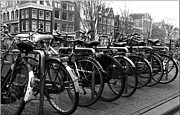 Amsterdam Photos - Amsterdam Bicycles by Peter Aitchison