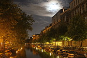 Nightlight Framed Prints - Amsterdam by Night Framed Print by Jim Ferrier