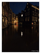Xoanxo Cespon Prints - Amsterdam by night Print by Xoanxo Cespon