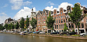 Amsterdam Canal Houses - 02 Print by Gregory Dyer