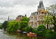 Amsterdam Canal Mansion Print by Gregory Dyer