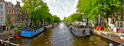 Amsterdam Canal Panorama Print by Gregory Dyer
