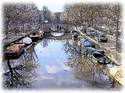 Amsterdam Digital Art - Amsterdam Canal by Tom Schmidt