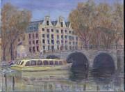 Amsterdam Canal Tour Print by Pib