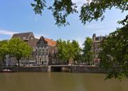 Gabled Prints - Amsterdam canal view Print by Johan Elzenga