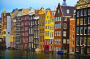 Canals Framed Prints - Amsterdam Framed Print by Harry Spitz