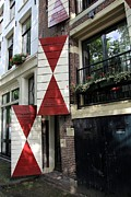 Old Door Photos - Amsterdam House Facade by Sophie Vigneault