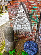 Amsterdam Illumanati Graffiti Print by Gregory Dyer