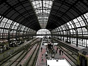 Amsterdam Digital Art - Amsterdam Train Station by George Pedro