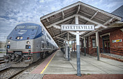 Fayetteville - Arkansas Framed Prints - Amtrak 124 Framed Print by Jim Pearson