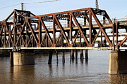 Sacramento Southern Prints - Amtrak California Crossing The Old Sacramento Southern Pacific Train Bridge . 7D11675 Print by Wingsdomain Art and Photography