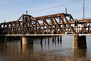 River Delta Framed Prints - Amtrak California Crossing The Old Sacramento Southern Pacific Train Bridge . 7D11692 Framed Print by Wingsdomain Art and Photography