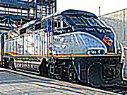 Samuel Sheats Prints - AMTRAK Locomotive Study 1 Print by Samuel Sheats