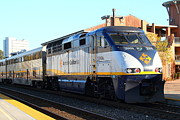 Train Stations Photos - Amtrak Train At The Martinez California Train Station . 7D10492 by Wingsdomain Art and Photography