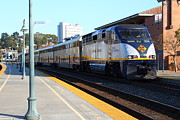 Train Stations Photos - Amtrak Train At The Martinez California Train Station . 7D10493 by Wingsdomain Art and Photography