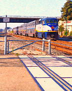 Rail Digital Art - Amtrak Train . Photo Art by Wingsdomain Art and Photography