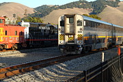 Old Cabooses Photos - Amtrak Trains at The Niles Canyon Railway In Historic Niles District California . 7D10854 by Wingsdomain Art and Photography