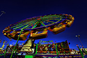 Enterprise Framed Prints - Amusement Ride Framed Print by Charrie Shockey