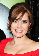 Bangs Prints - Amy Adams At Arrivals For Leap Year Print by Everett