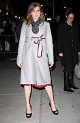 Overcoat Framed Prints - Amy Adams In A Louis Vuitton Scarf Framed Print by Everett