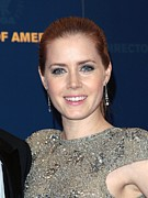 Hair Slicked Back Posters - Amy Adams In The Press Room For Press Poster by Everett