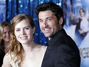 Amy Adams Framed Prints - Amy Adams, Patrick Dempsey At Arrivals Framed Print by Everett